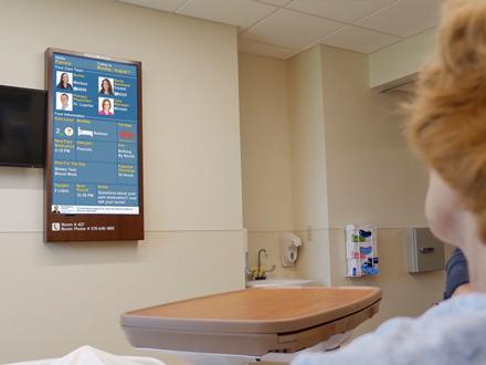 Digital Patient Room Whiteboard Display