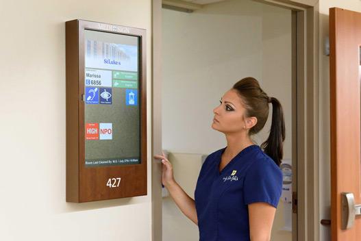 Digital Patient Room Door Display