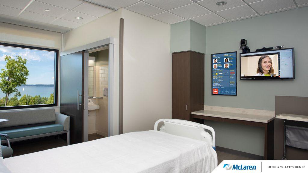 McLaren Health Care Northern Michigan Patient Room